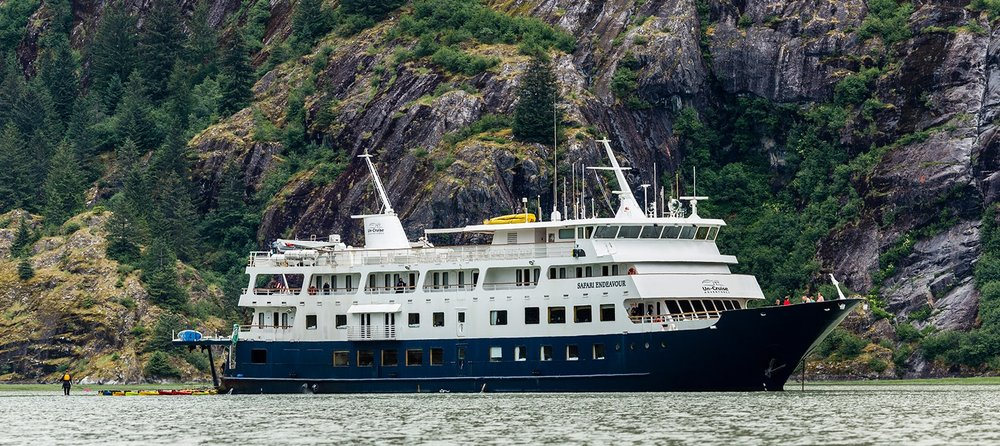 Adventure: The Safari Endevour anchored in Endicott Arm, Tongass National Forest, Southeast Alaska