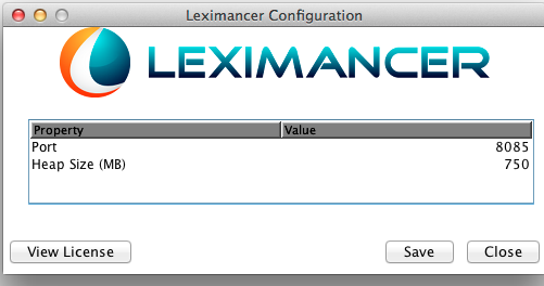 Leximancer Configuration Application