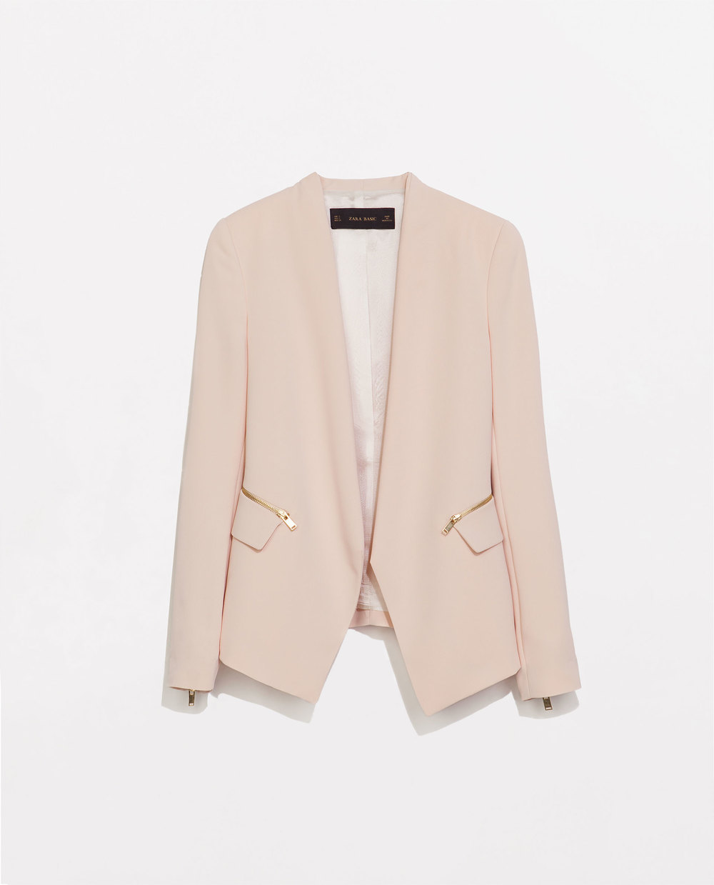 Zara, Striped Blazer with Zips, £69.99