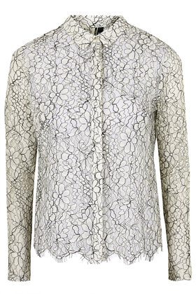 Topshop, Scallop Lace Shirt £50
