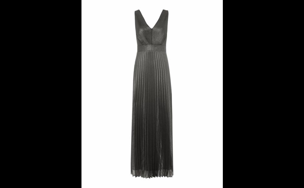 Biba, Metallic Foil Pleated Maxi Dress, £135.20