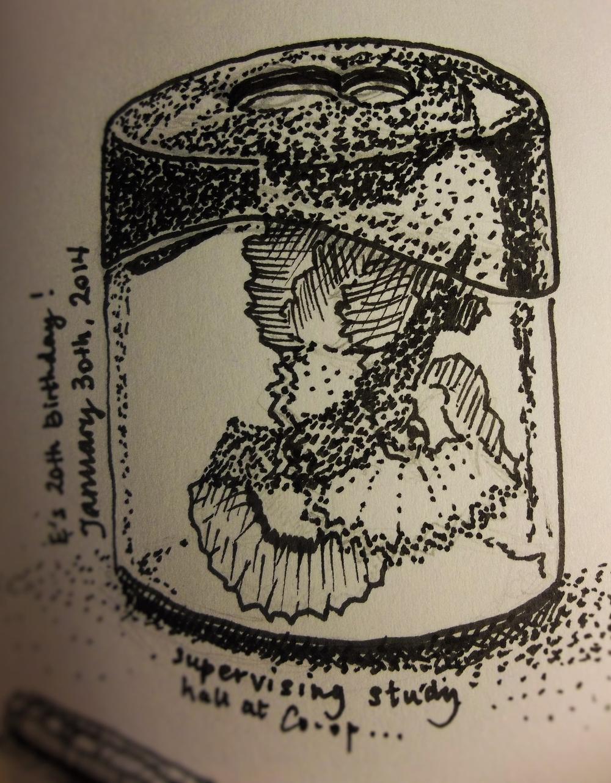 Portable pencil sharpener. Sketch copyright Michelle Geffken. paperblogging.com. Click for Blick links.