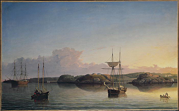 Fitz Henry Lane,        Stage Rocks and Western Shore of Gloucester Outer Harbor    , 1857 , Wilmerding Collection