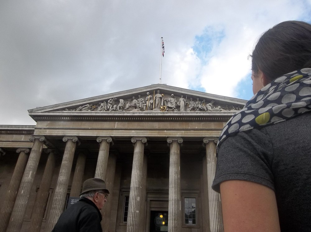 The classical exterior of the British Museum