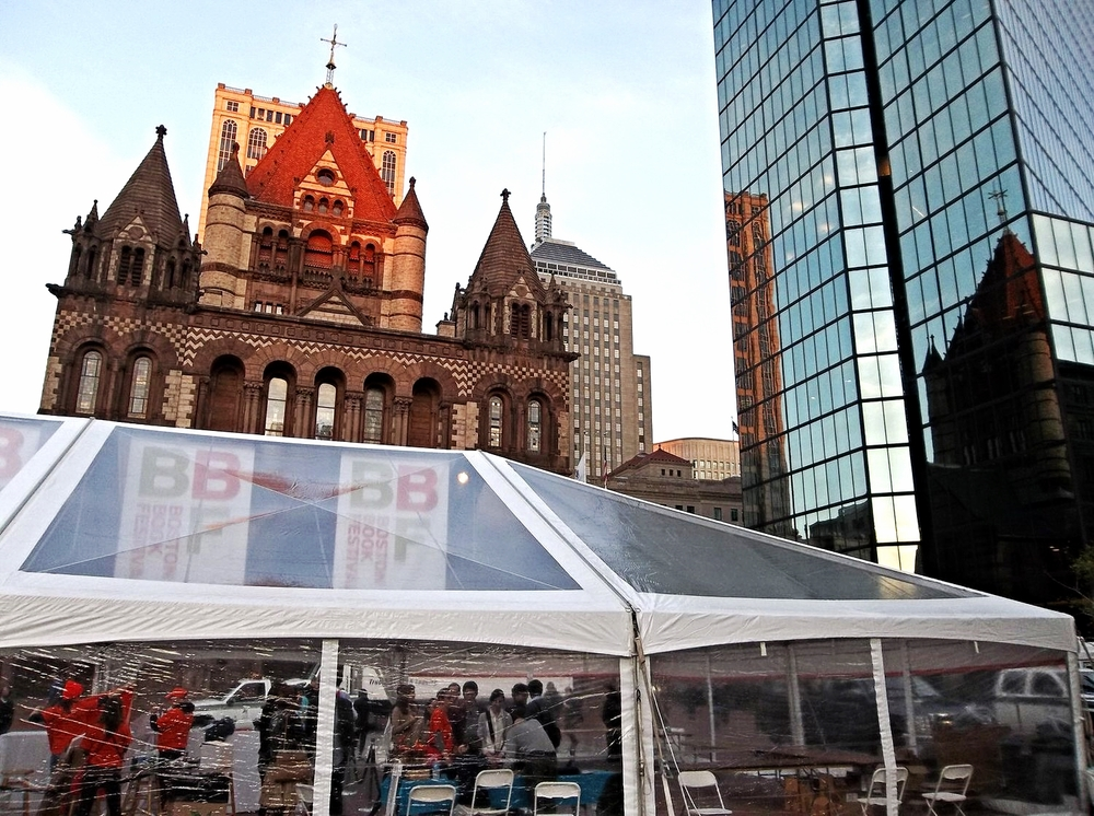 The Boston Book Festival main tent, where book signings take place