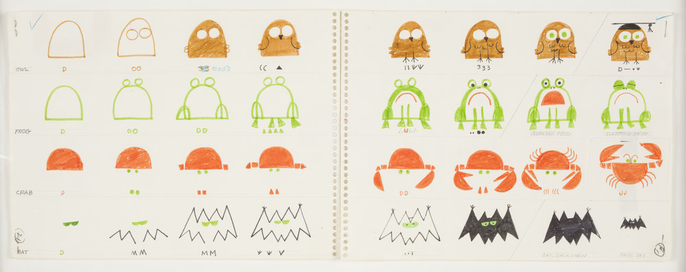 Mockup pages for Ed Emberley's Drawing Book of Animals, 1970 © Ed Emberley, used with permission.