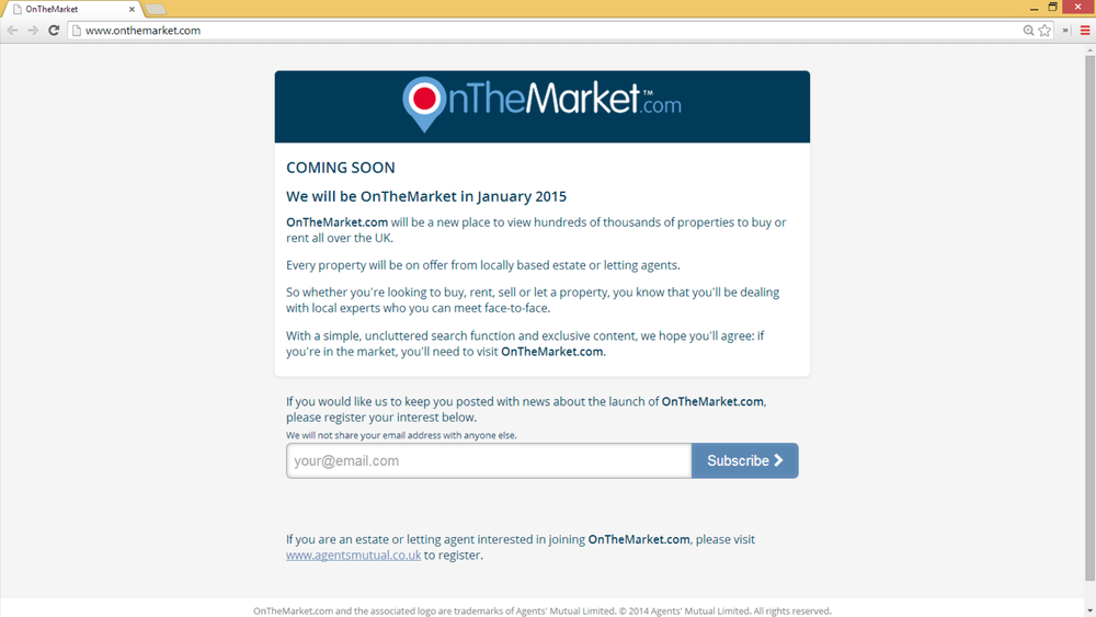 OnTheMarketWebsiteScreenshot