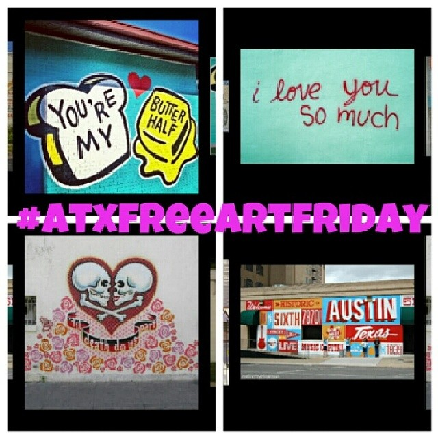 It's a race! First person to either take a picture of themselves throwing up a peace sign in front of any of these murals wins my #atxfreeartfriday contribution. Just tag me in your photo and I PM you all the info you need to collect. Now go! XoXo @spratx #spratx–posted by stephetb on Instagram