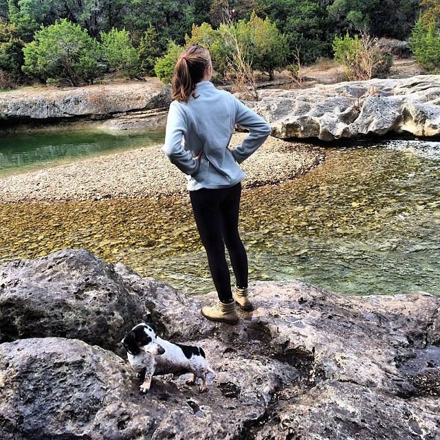 A girl and her Dachshund in the Greenbelt @willakaough #thenakeddog #austin #hiking #boarding #training #atx #dogsofaustin #dogsofinstagram–posted by thenakeddog on Instagram