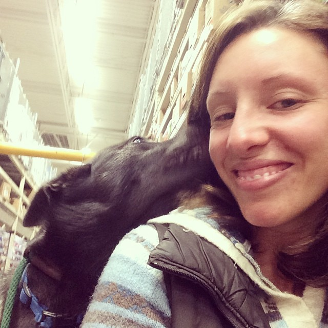 Getting some kisses under the mistletoe at Home Depot #thenakeddog #austin #hiking #boarding #training #atx #dogsofaustin #dogsofinstagram–posted by thenakeddog on Instagram