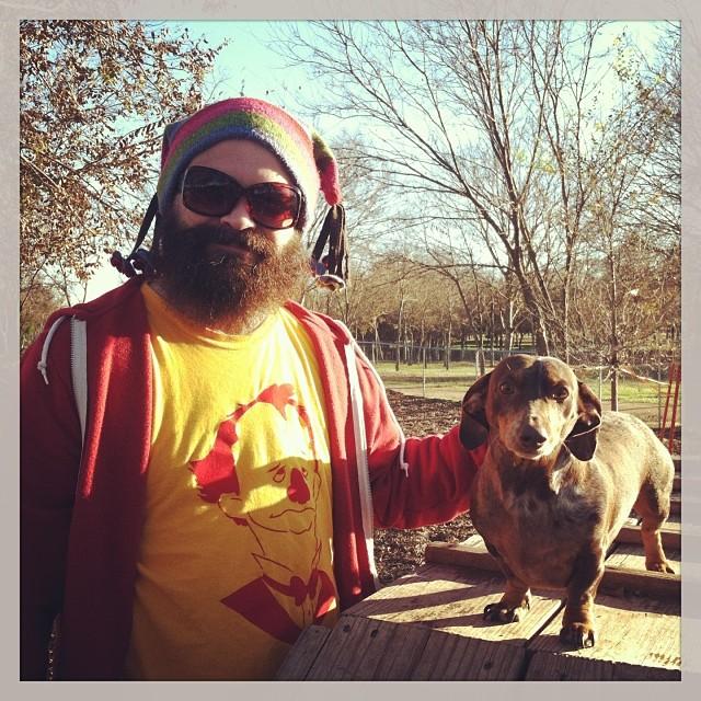 Jason & Reesie at the park. #dachshund #austintx #winterfun #blackscorpion–posted by karensinaustin on Instagram