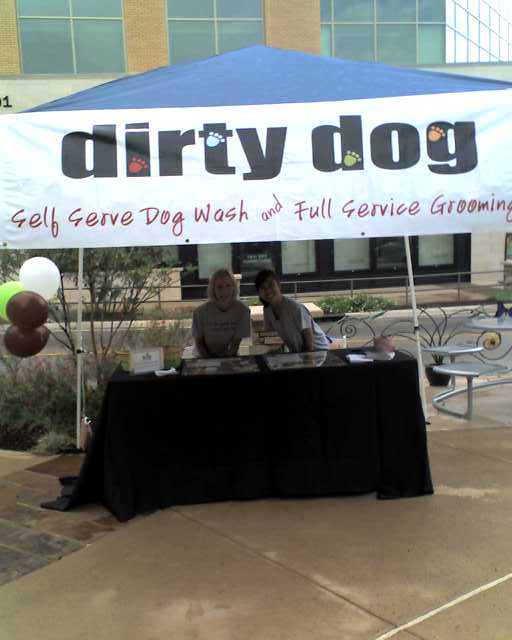 The Dirty Dog crew ROCKS! Go say hi to Andrea and Jennifer at Dogtoberfest at the Domain today!!