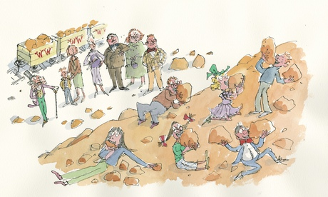 Quentin Blake illustration via The Guardian.