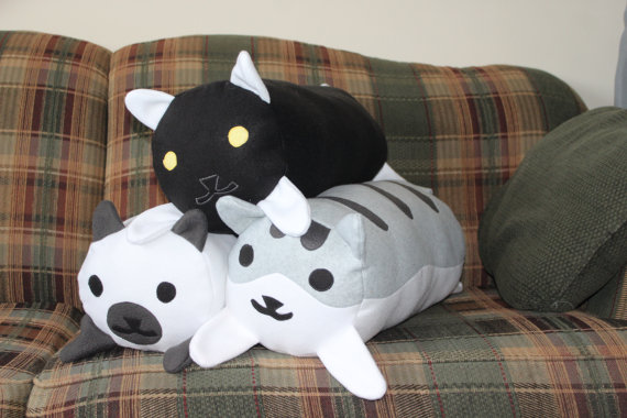 Neko Atsume log pillows