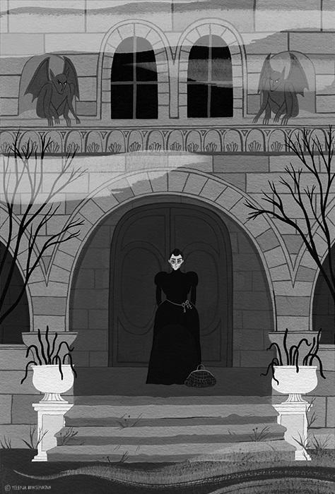 Interior illustration from Elizabeth and Zenobia.  Illustrator:Yelena Bryksenkova.