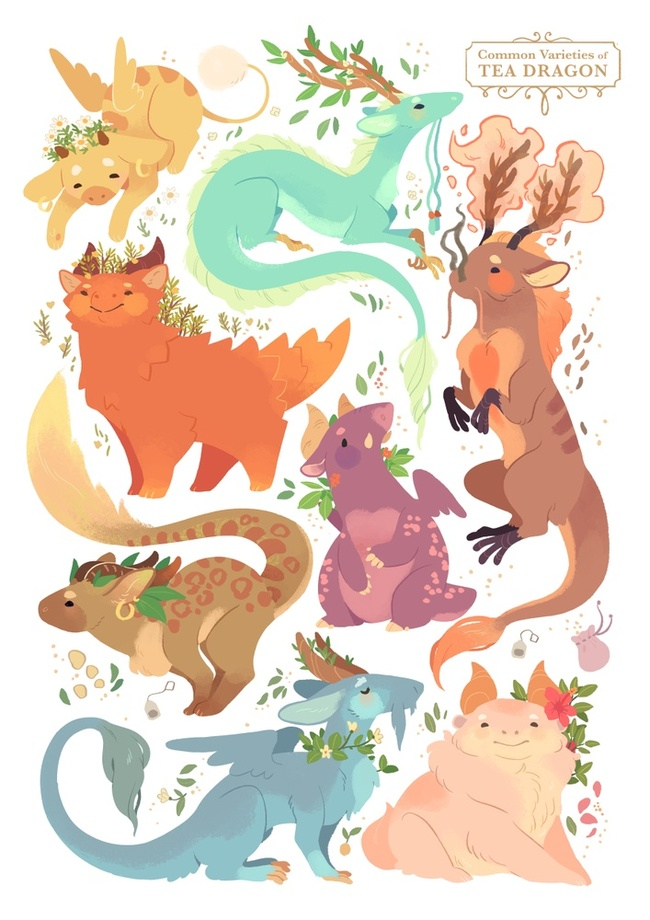 Katie O'Neill's Tea Dragons, available  here .