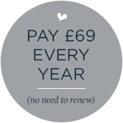 £69 every year (no need to remember to renew)