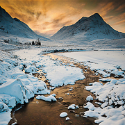 Fire and Snow - Glencoe, Scotland