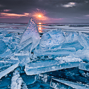 Shards of ice and sunrise