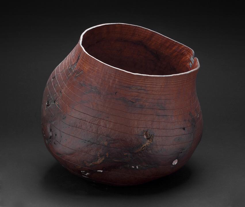 "Christian Burchard Basket 20"", 2005 Madrone Burl 20 x 20 x 20 inches / 50.8 x 50.8 x 50.8 cm / CBu 1"