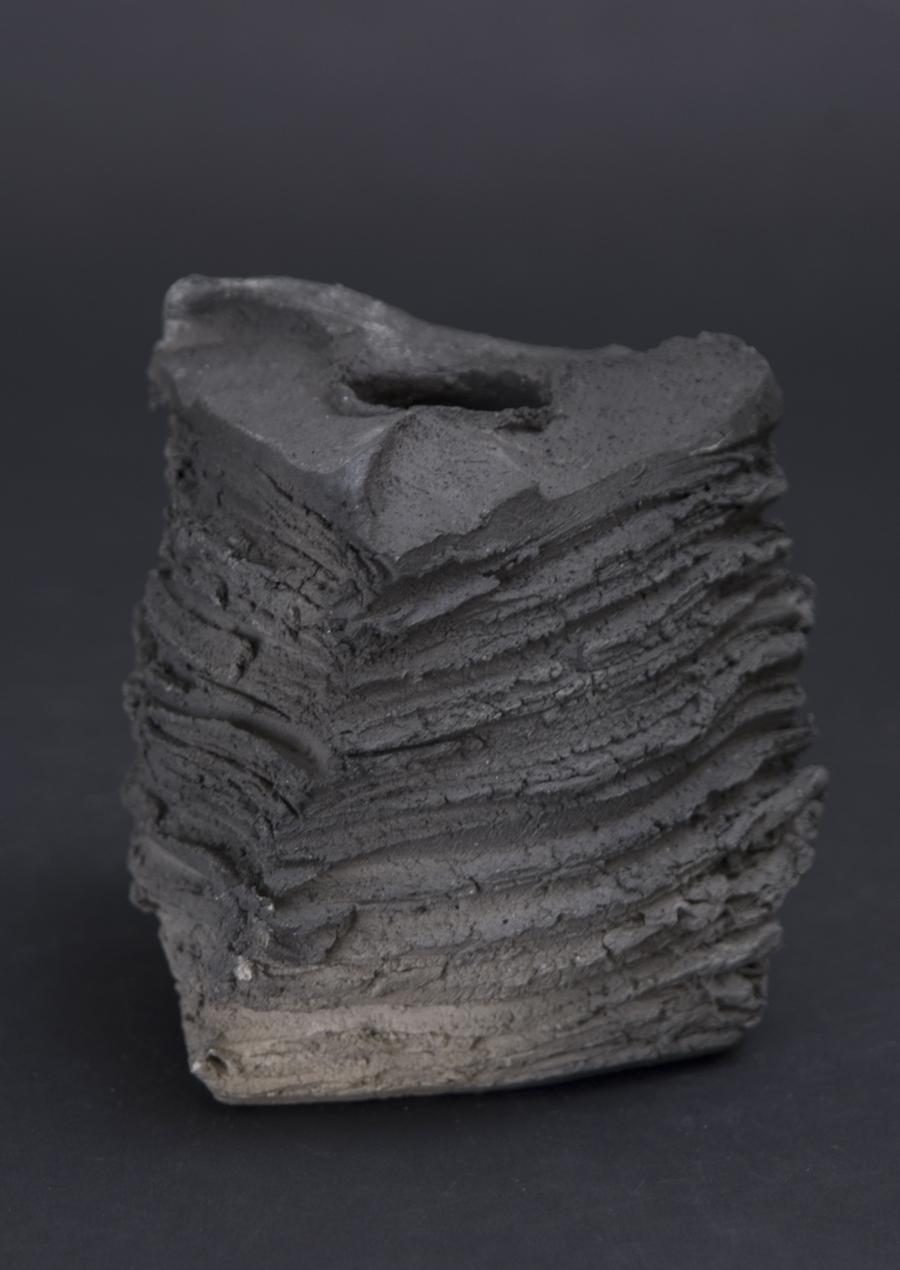 Shozo Michikawa Tanka Triangle Pot, 2010 Stoneware 3.74 x 3.74 x 3.74 inches / 9.5 x 9.5 x 9.5 cm / SMi 4