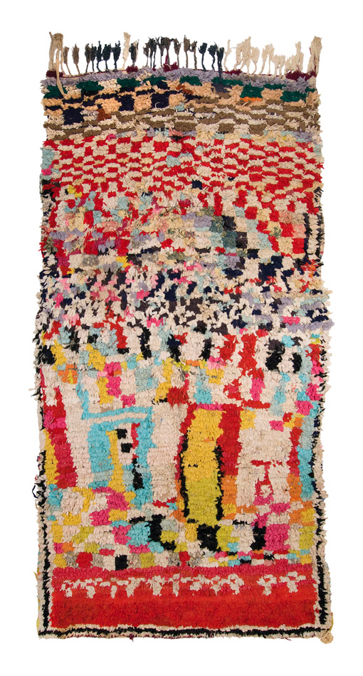 Morocco Boucherouite, Late 20th C. Industrial recycled fibers, rag 51 x 107 inches  /  129.5 x 271.8 cm  /  Mor 171