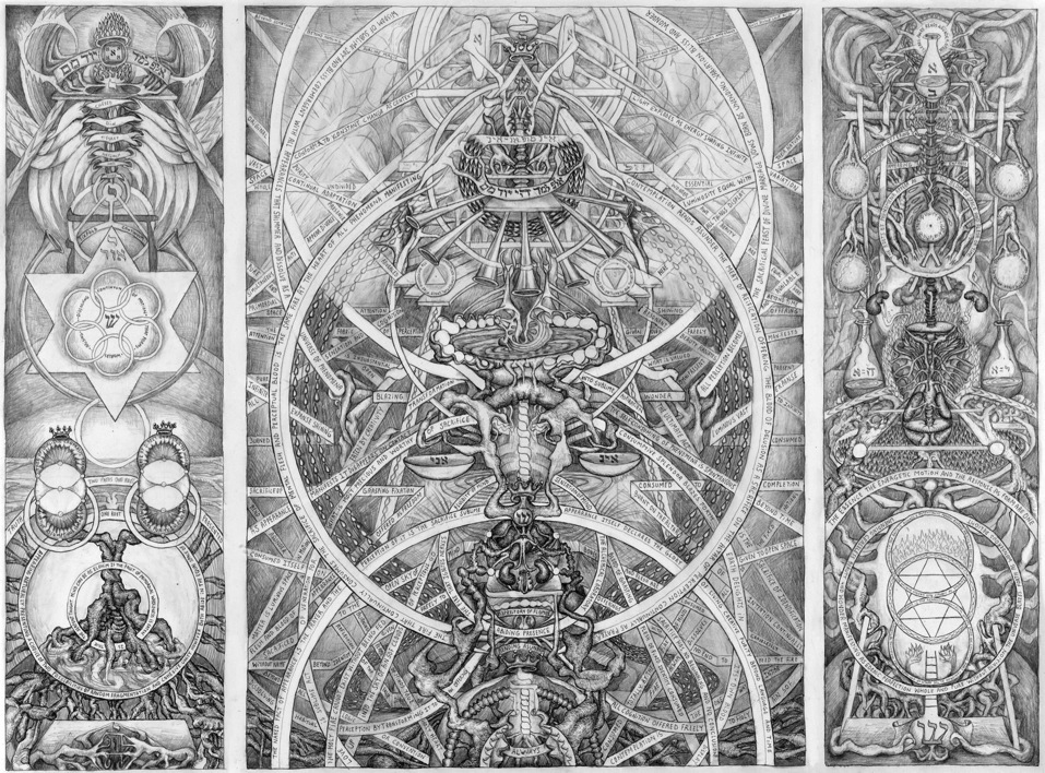 David Chaim Smith Blood of Space Speaks, 2009 Pencil and ink on paper 16.5 x 22 inches  /  41.9 x 55.9 cm  /  DCS 23