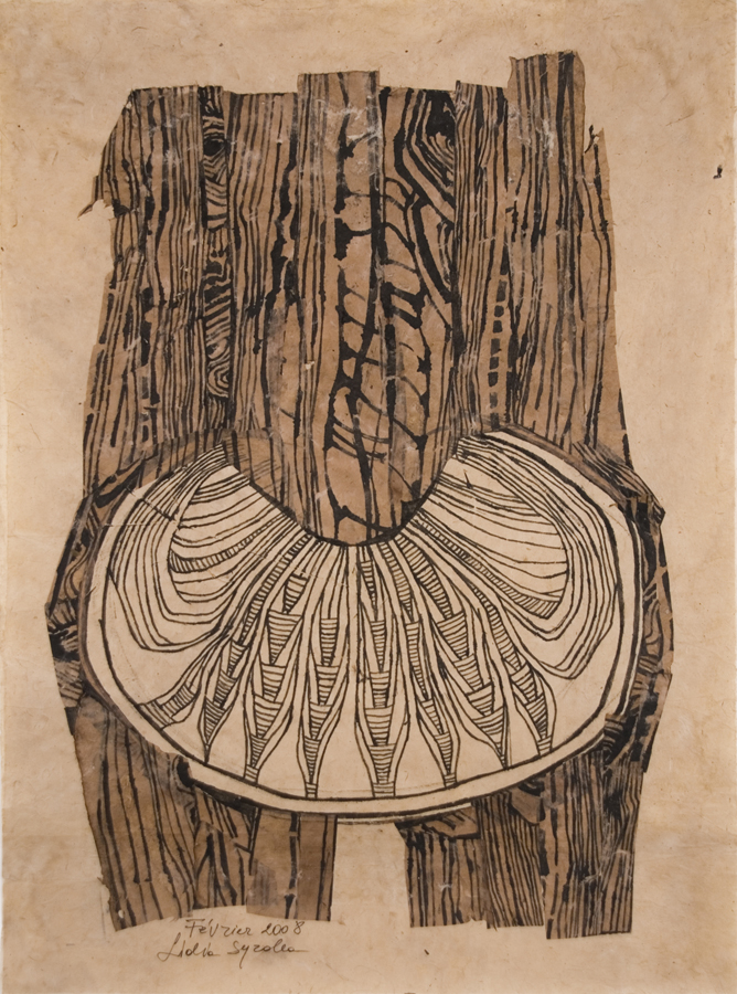 Lidia Syroka Untitled, 2008 Black Ink, Walnut Stain, Paper 33.5 x 24 inches  /  85.1 x 61 cm  /  LSY 29