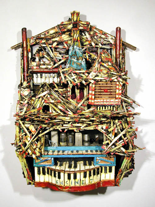 Kevin Sampson Engine Company 107, 2005 Mixed media 32 x 24 x 13 in  /  81.3 x 61.0 x 33.0 cm  /  SK 156