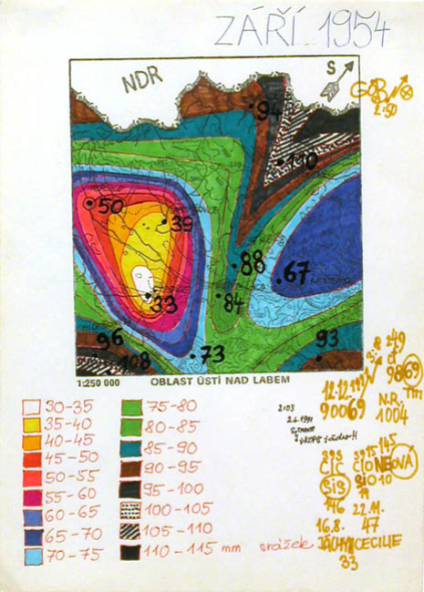 Zdenek Kosek Zari 1954, c.1991 Ballpoint pen, marker/paper 8.25 x 6 inches / 21 x 15.2 cm / ZKo 50