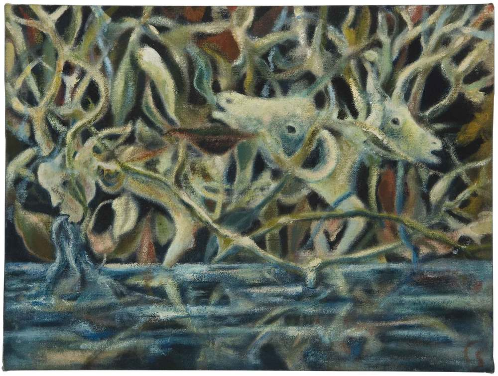 Christine Sefolosha Mangrove, 2007 Oil/ Cloth 9.5 x 12.5 inches  /  24.1 x 31.8 cm  /  CSe 76