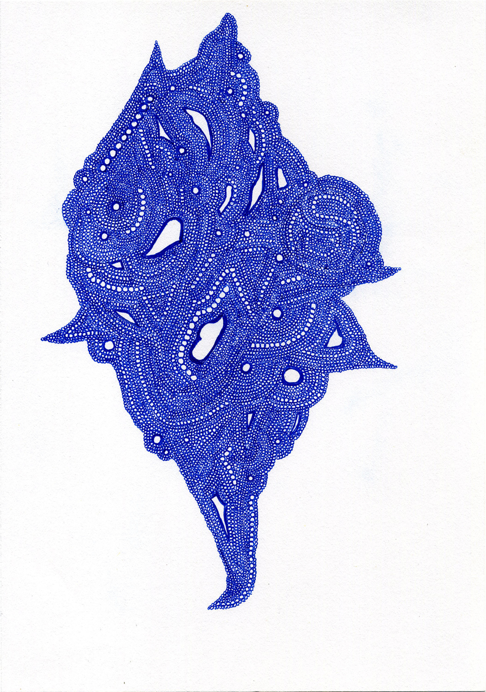 Lauren Sampson    Untitled  , 2011 Ink/paper 10 x 7 inches  /  25.4 x 17.8 cm  /  LaS 28