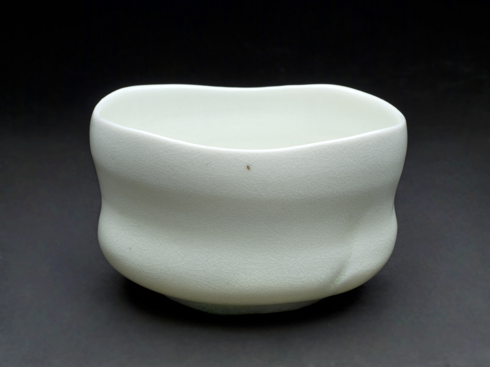 Sandy Lockwood    Chawan  , 2012 Woodfired and saltglazed porcelain 3 x 5 inches  /  7.6 x 12.7 cm  /  SaL 21