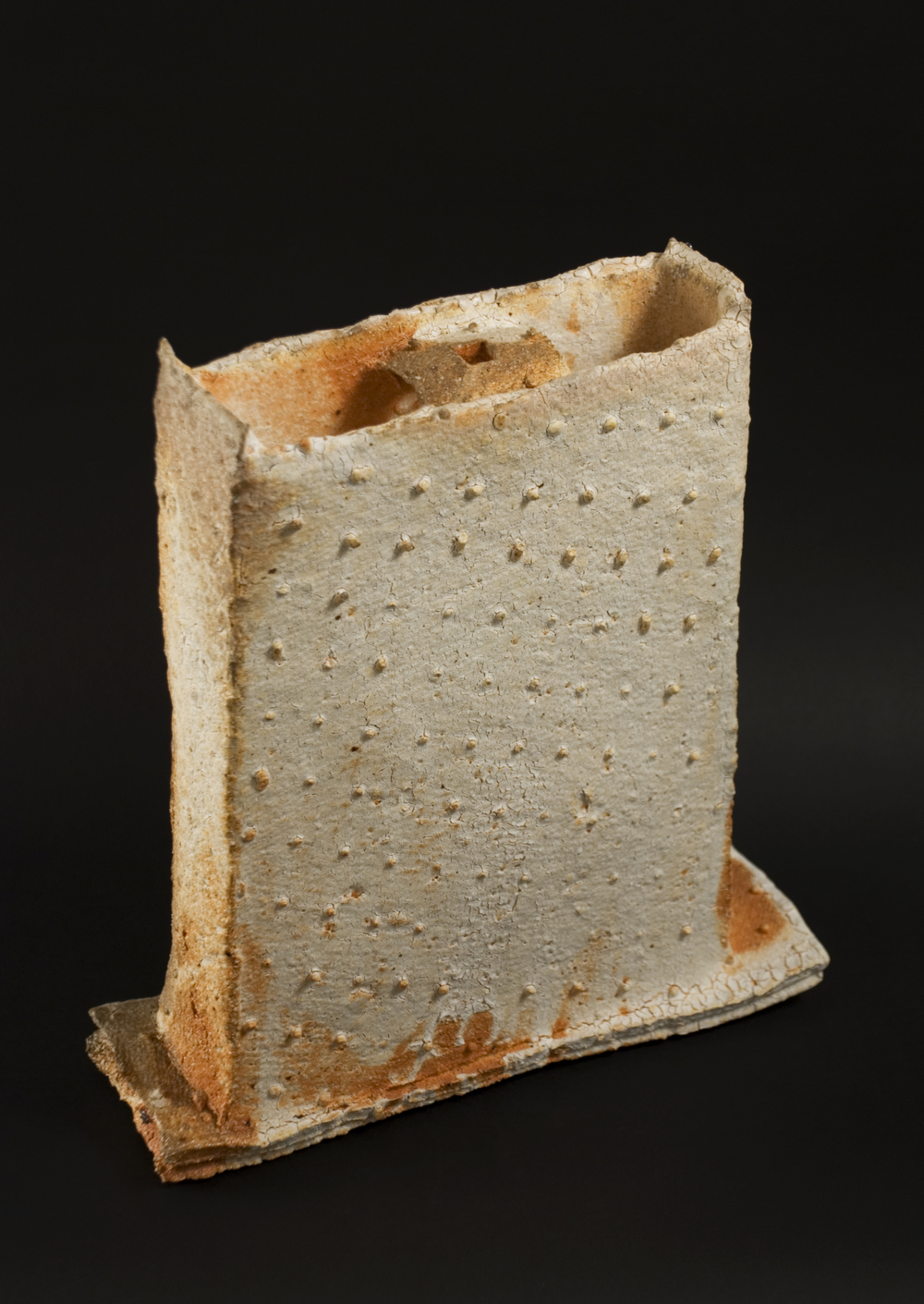 Sandy Lockwood    The Keep Series  , 2008 Woodfired, salt glazed  12.75 x 4.25 x 4.25 inches  /  32.4 x 10.8 x 10.8 cm  /  SAL 2