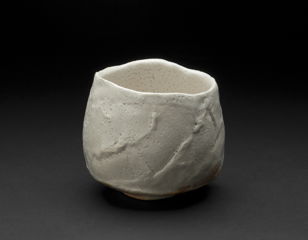 Touri Maruyama    Shino Chawan   , 2012 Ceramics, Moxa clay 4 x 4.5 inches / 10.2 x 11.4 cm / TMar 7