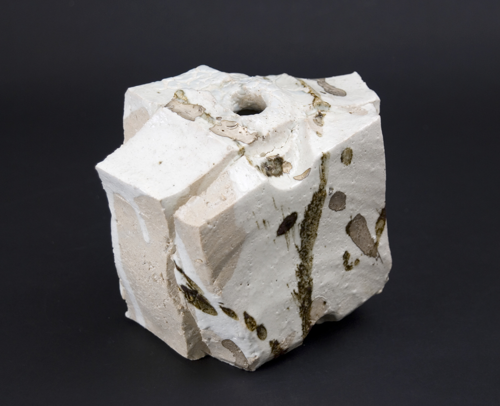 Shozo Michikawa    Small Twist Form   Stoneware with Kohiki glaze   5 x 7 x 4 inches  /  12.7 x 17.8 x 10.2 cm  /  SMi 6
