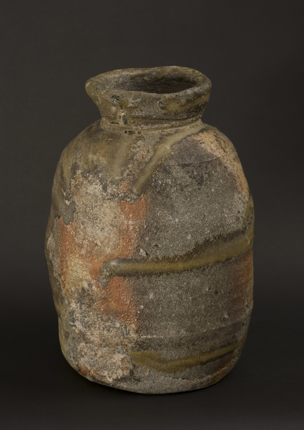 Owen Rye    Bag Form   , 2008 Woodfired stoneware 10 x 6 x 6 inches  /  25.4 x 15.2 x 15.2 cm  /  OWR 2