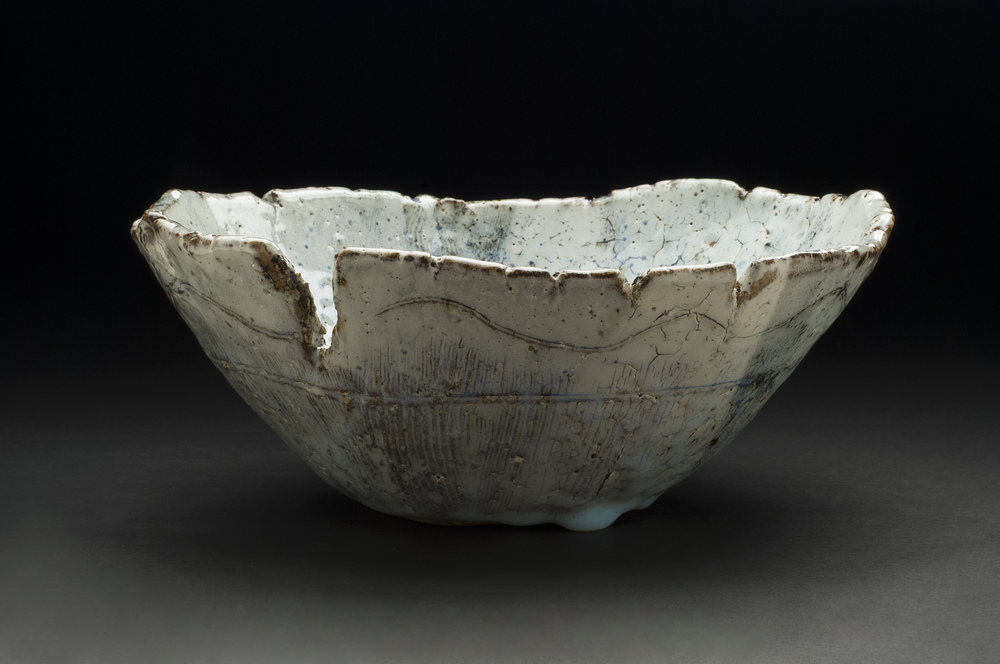 Jane Wheeler    Black Ice Bowl  , 2013 Stoneware clay with chun glaze, slab built 4.5 x 11 x 11 inches  /  11.4 x 27.9 x 27.9 cm  /  JWh 6