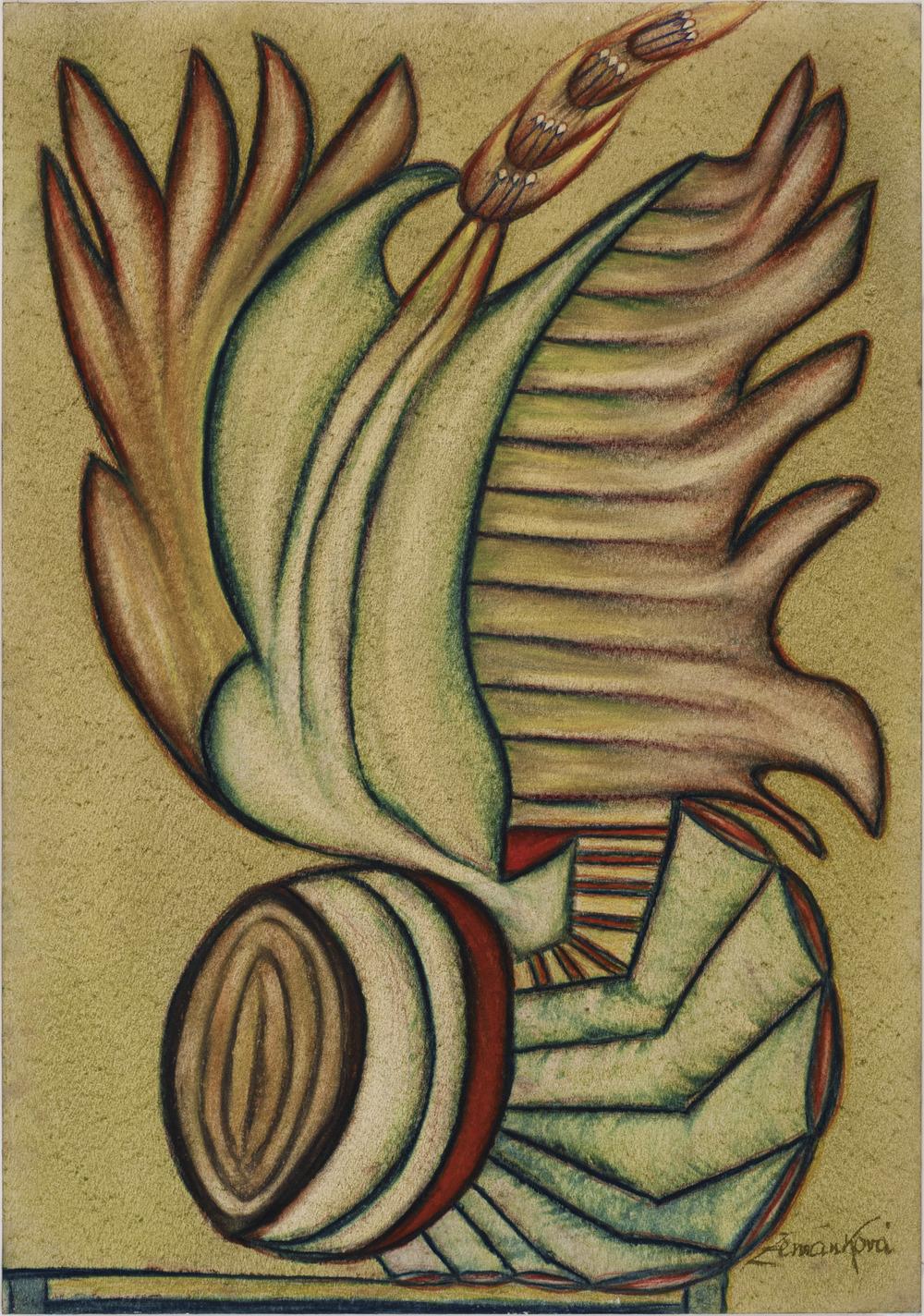Anna Zemánková    Untitled  , c. 1966 Pastel/paper 24 x 17 in / 61.0 x 43.2 cm / AZe 324