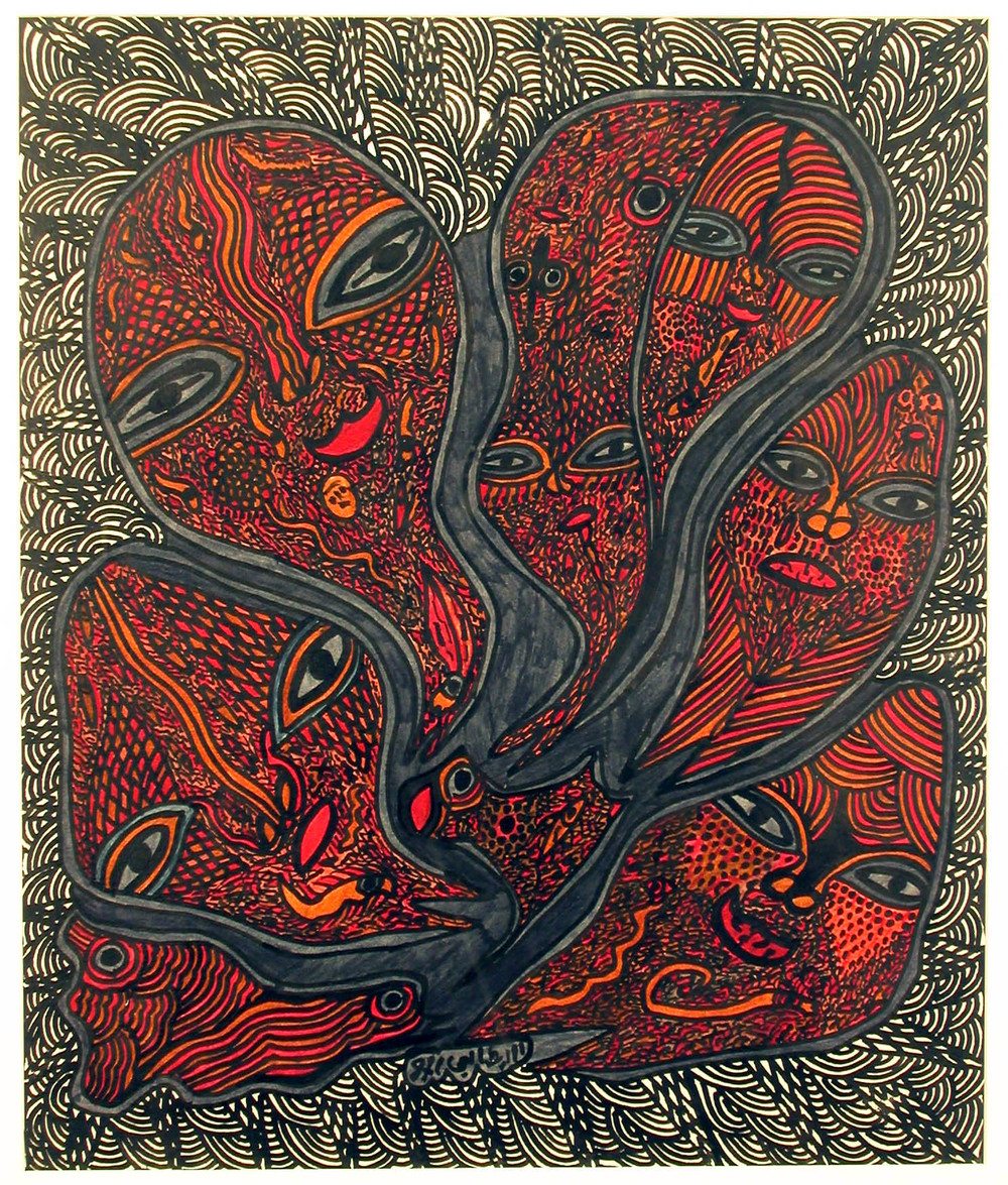 Mohammed Mrabet Untitled, c.1980 Marker/ Paper 20 x 17 in / 50.8 x 43.2 cm / MMr 1