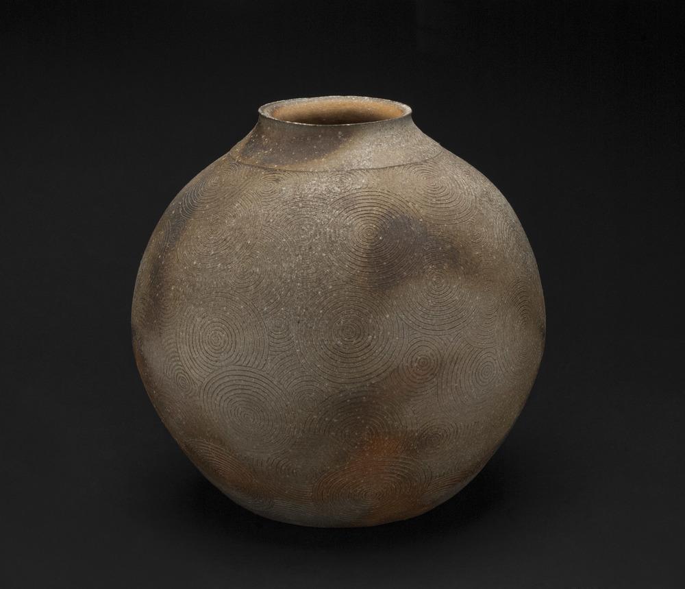 Kato Takahiko    Shigaraki Tsubo   , 2005 Woodfired Ceramic 12.5 x 12.5 x 12.5 inches / 31.8 x 31.8 x 31.8 cm / TKa 12