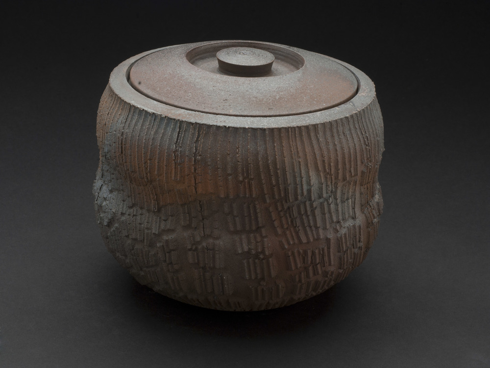 Tom Charbit    The Organ Series: Les Lueurs  , 2012 Stoneware, woodfired at 1300°C (15 hours), Train Kiln, Lagorce 5.5 x 6.5 inches   14 x 16.5 cm   TCh 7