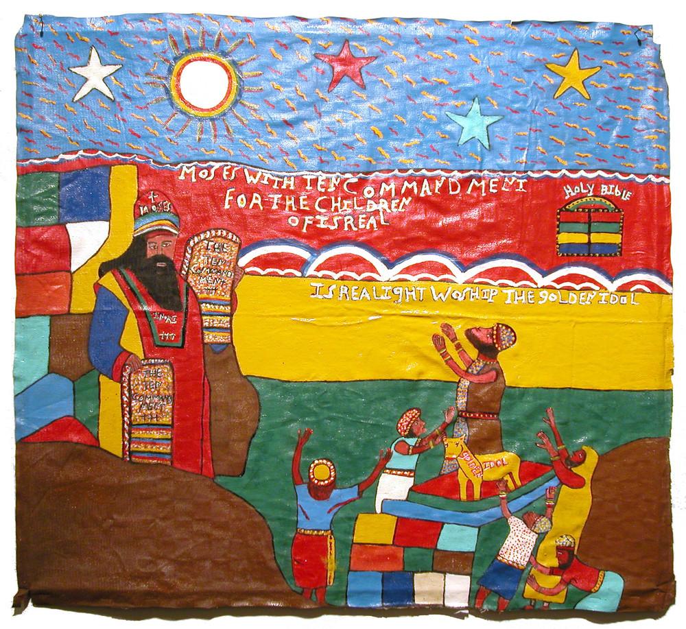 Elijah Elijah    The Goldon Idol  , 1995 Enamel/canvas 22 x 30 in / 55.9 x 76.2 cm / Eli 8