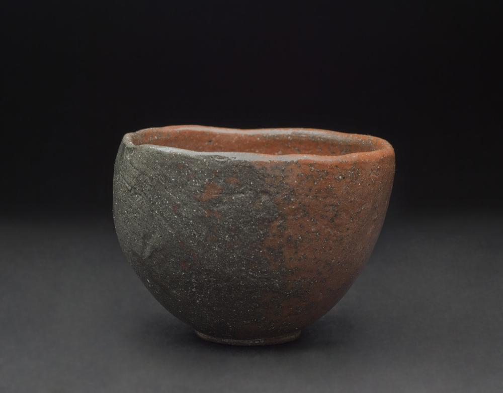 Toshio Ohi    Ohi Red Raku Tea Bowl  , 2011 Ceramic 3.25 x 4.5 inches / 8.3 x 11.4 cm / TOh 1