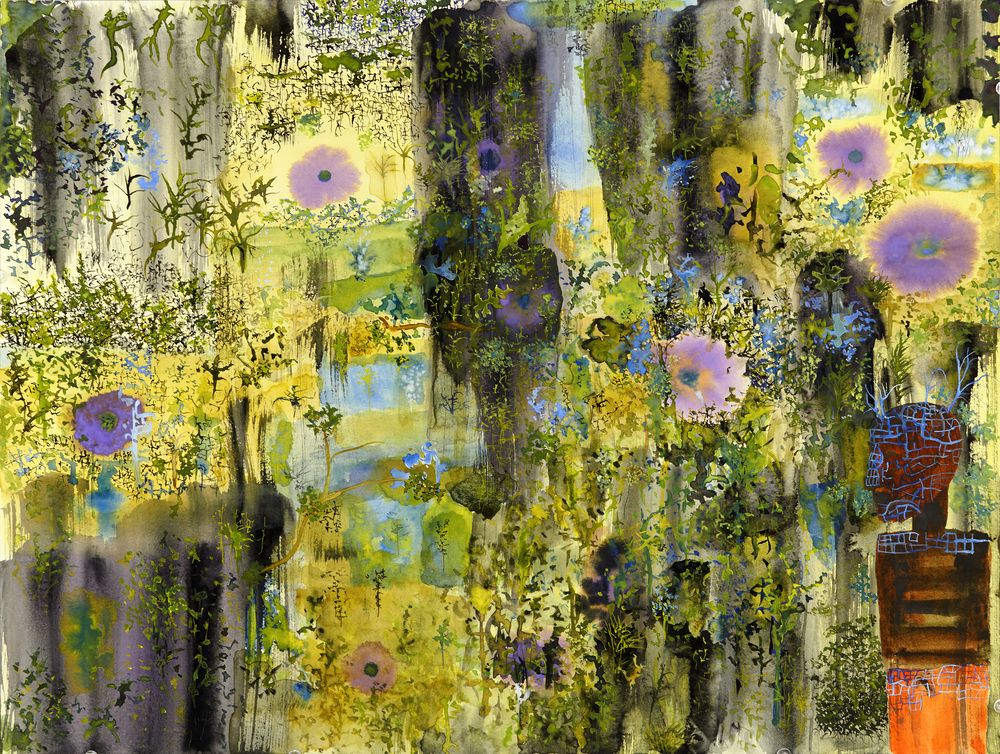 John Lurie    The other side of The Great Wall of Fuck  , 2014 Watercolor on paper 18 x 24 inches  /  45.7 x 61 cm  /  JLur 13