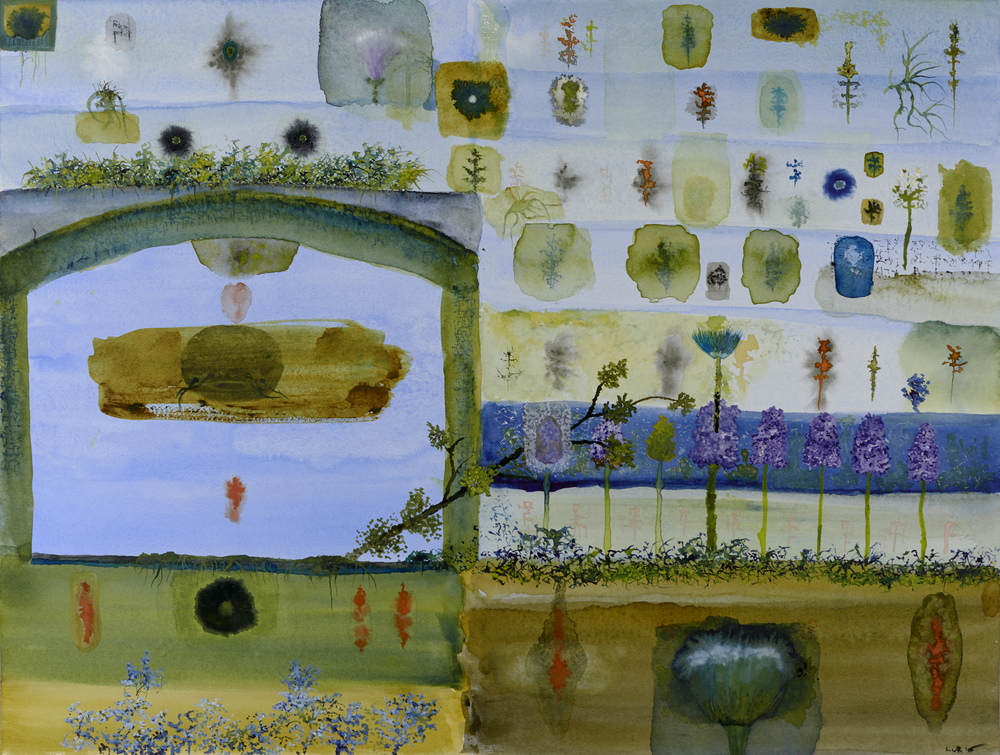 John Lurie    Gateway into the World of Catfish Head  , 2014 Watercolor on paper 18 x 24 inches  /  45.7 x 61 cm  /  JLur 16