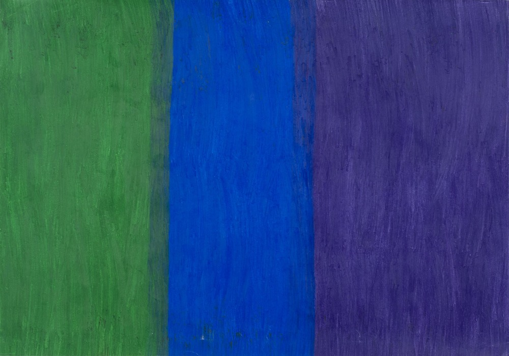 Hidetaka Kaji    Green, Blue and Purple  , 2011 Colored pencil, paper 15.35 x 21.26 inches  /  39 x 54 cm  /  HKaj 3