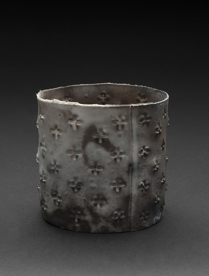 Deirdre Hawthorne    Before Life XIII  , 2010 Saggar fired porcelain 3 x 3.5 x 3.5 inches 7.6 x 8.9 x 8.9 cm DH 9