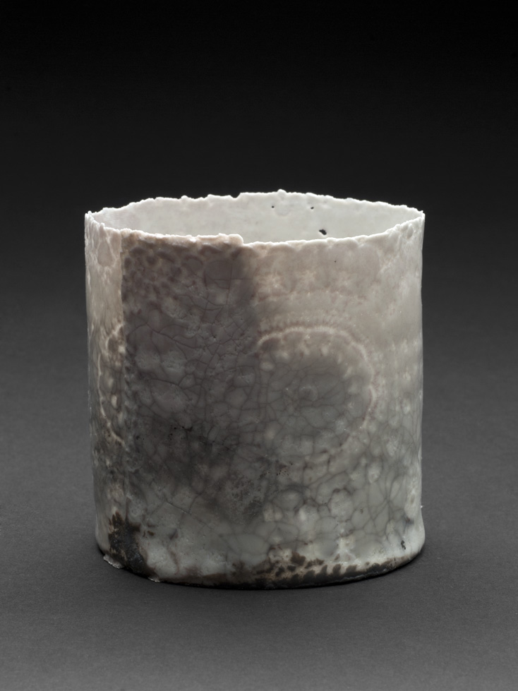 Deirdre Hawthorne    Skyward III  , 2011 Glazed and saggar fired porcelain 3.25 x 3 inches 8.3 x 7.6 cm DH 18