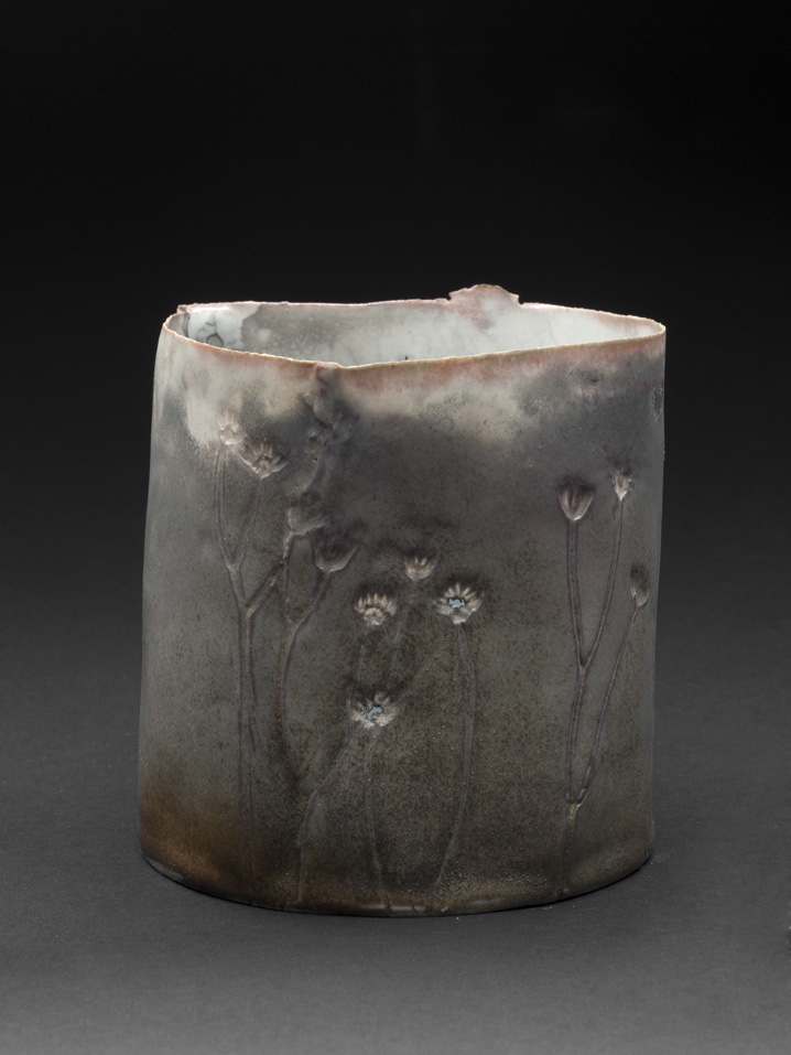 Deirdre Hawthorne    Lifted  , 2011 Glazed and saggar fired porcelain 4.5 x 4.5 inches 11.4 x 11.4 cm DH 23